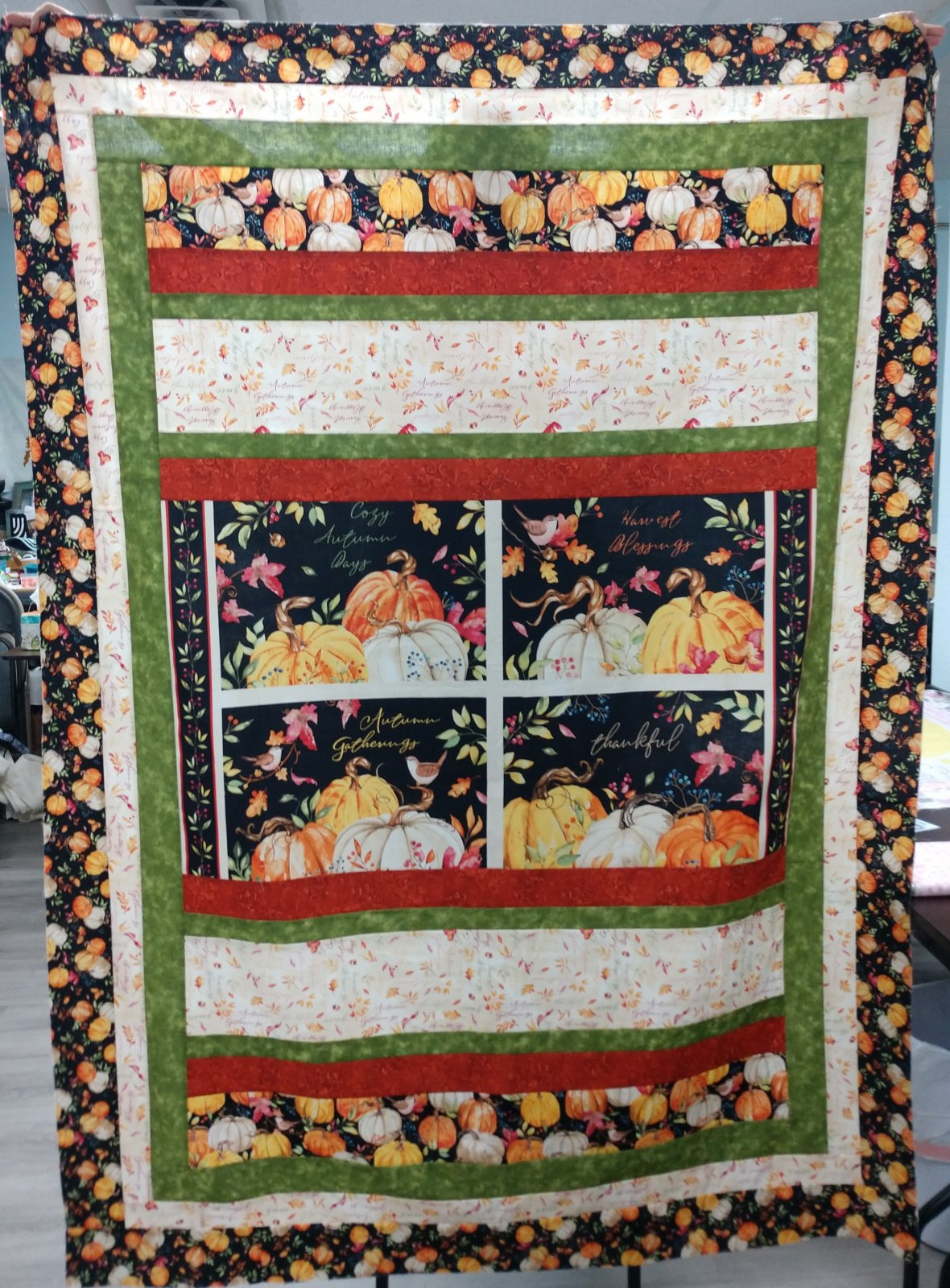Autumn Day HONOR Quilt Kit  56 x 76