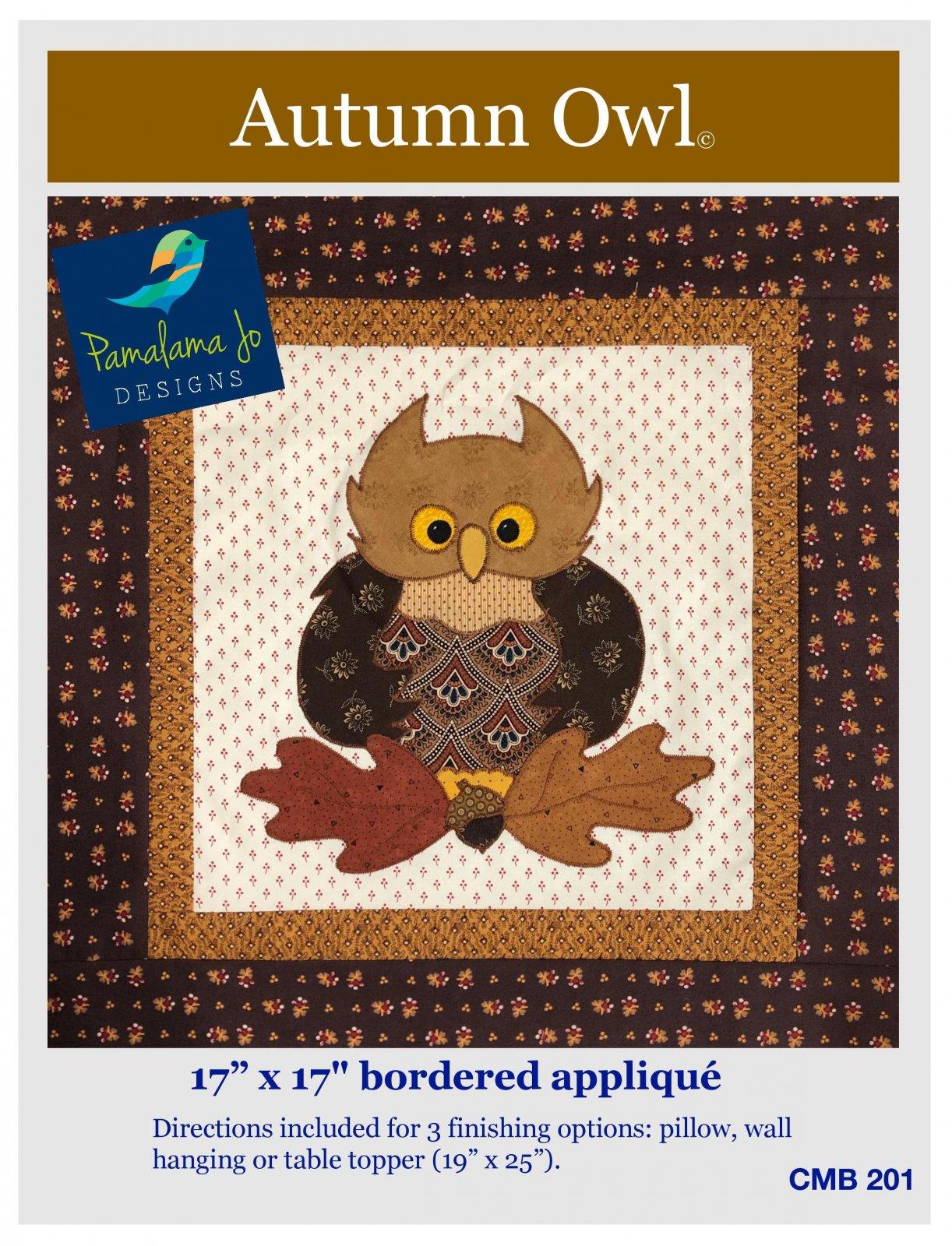Autumn Owl Applique Pattern