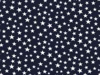 Patriotic White Stars on Navy