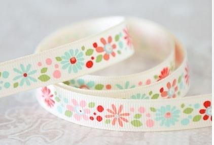 Ribbon Crazy Daisy Coral by Adornit 1/2