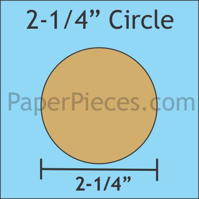 2-1/4 Paper Circles (50 pcs)