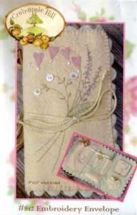 Crabapple Hill Embroidery Envelope pattern