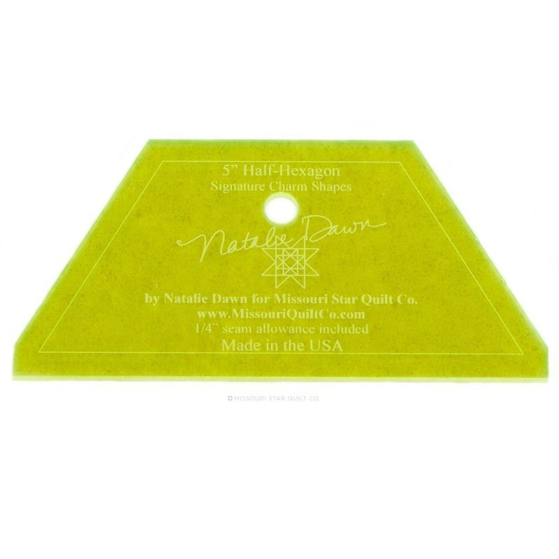 MSQC Small Half Hexagon Template for 5 Charm Packs & 2.5 Jelly Rolls
