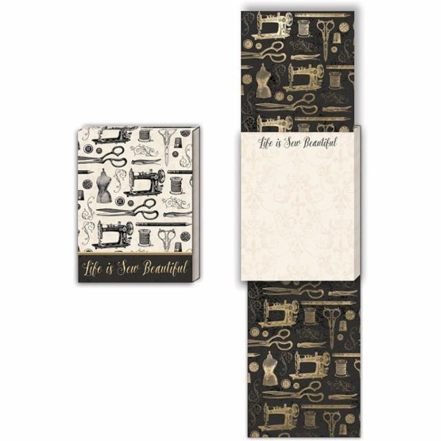 Life Is Sew Beautiful pocket notepad