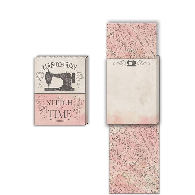 Handmade One Stitch at a time pocket notepad