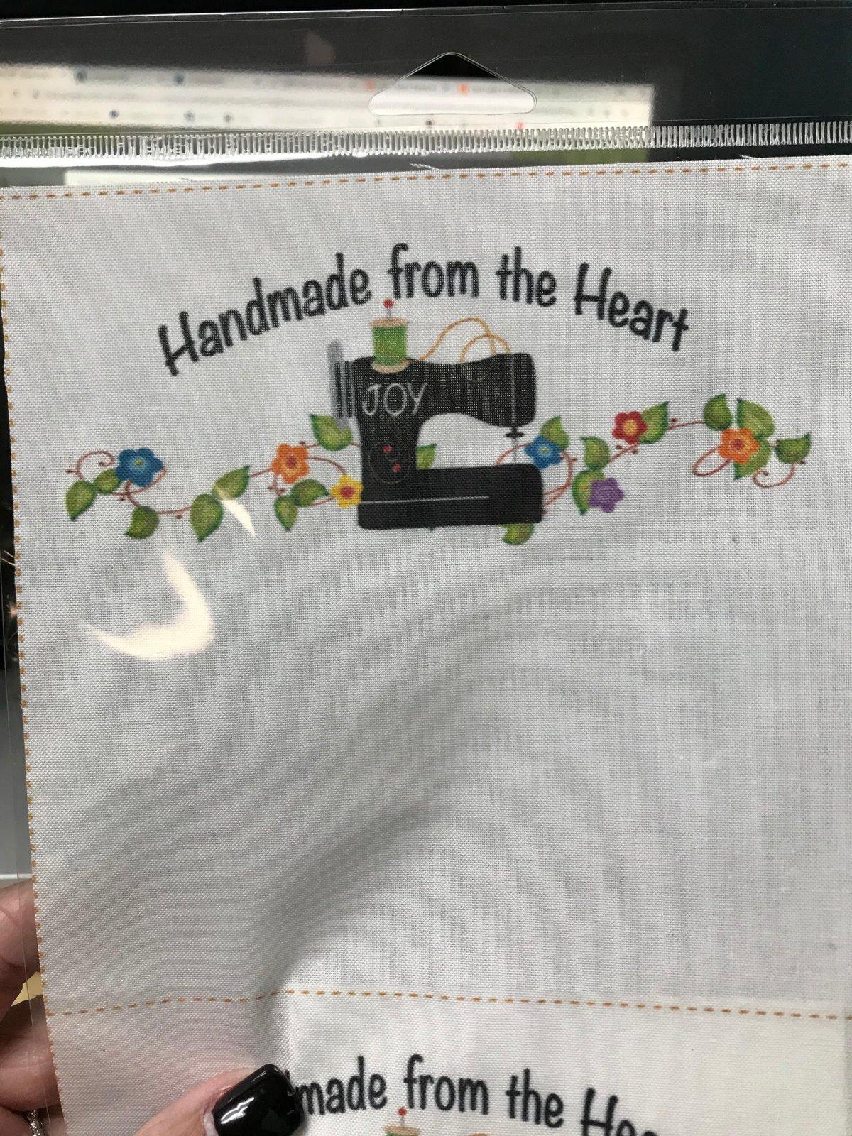 Quilt Label Joy Sewing Machine #1-  2 per pack
