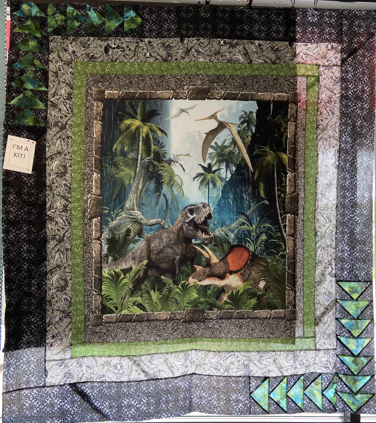 Jurassic Beach Walk Quilt Kit 56 x 68