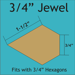 3/4 Jewel Paper Templates - 84pcs