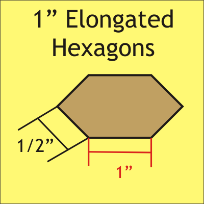 1 Elongated Hexagon papers (100 pcs)
