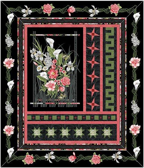 My Window Magnificent Blooms Kit Lap Size 51x 59