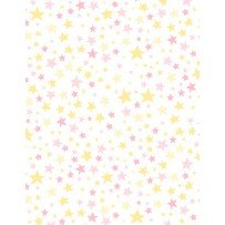 One Sheep, Two Sheep Pink/Yellow Stars on White
