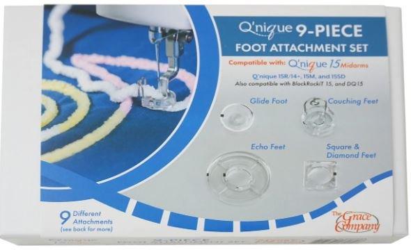 Grace Q'nique 21   9pc foot attachment Set