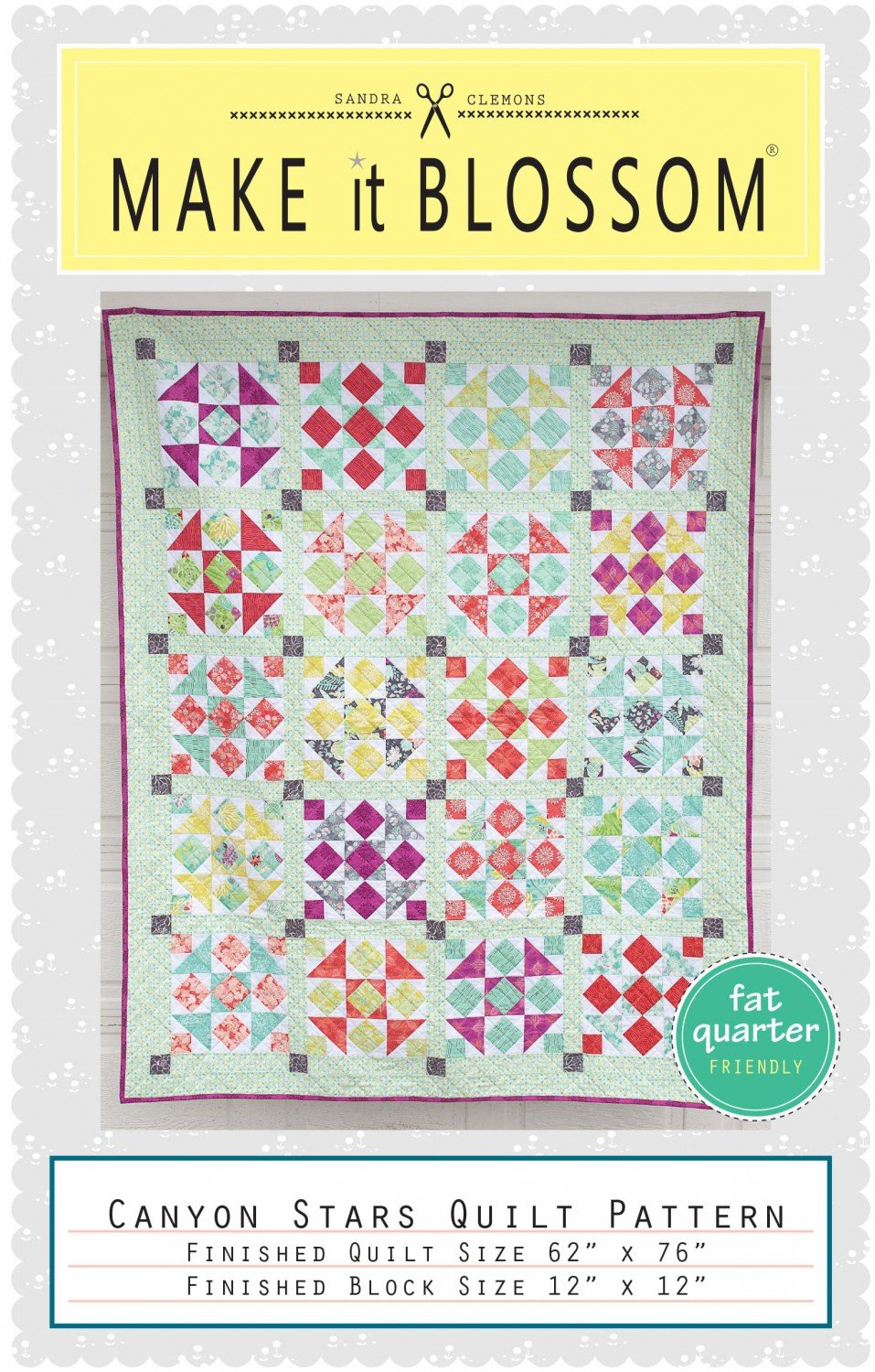Canyon Stars Quilt pattern