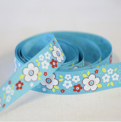 Ribbon Crazy Daisy Tropical by Adornit 1