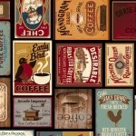 Common Grounds Coffee Labels Squares