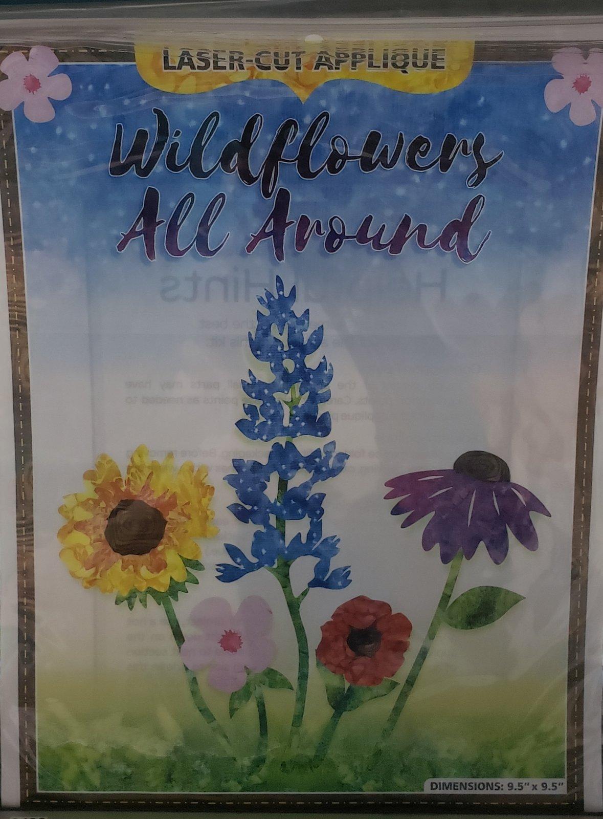 Westfield Wildflowers All Around Laser Cut Applique Kit