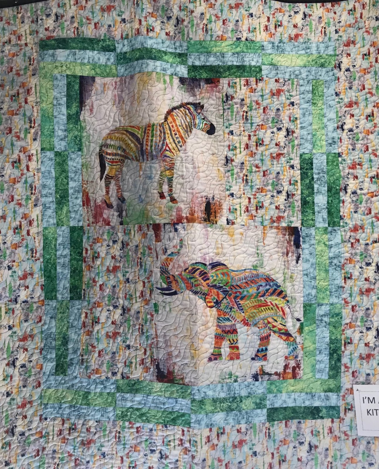 Zebra/Elephant Quilt Kit 48 x 57