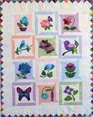 Jennifer's Jiffy Floral Quilt