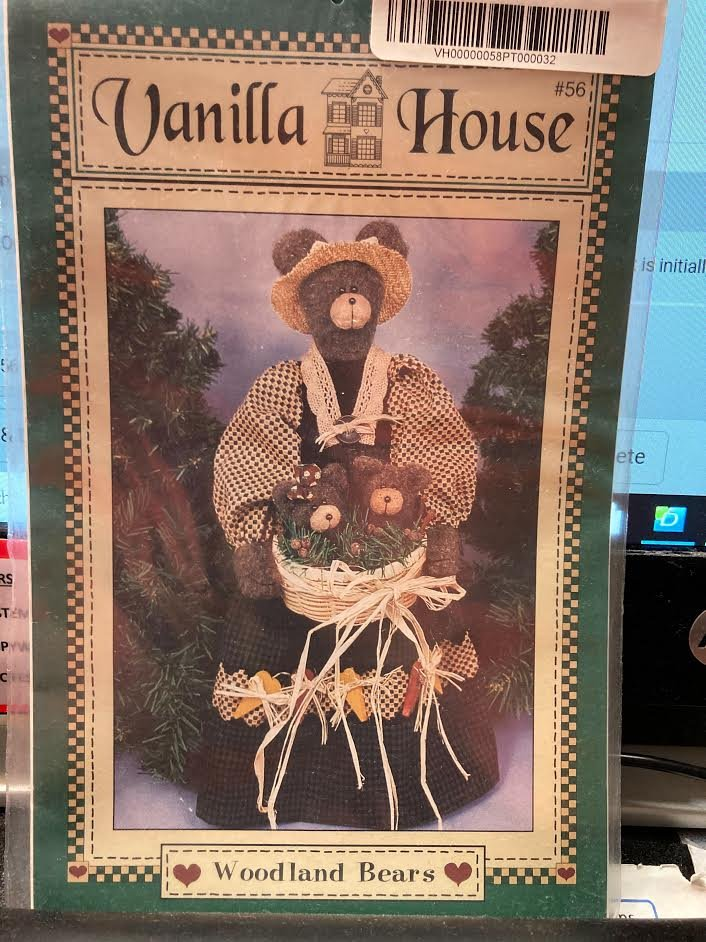 Vanilla House Woodland Bears Pattern #56