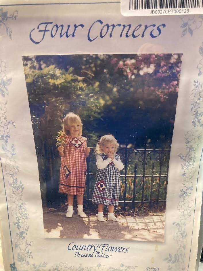 Four Corners Country Flowers Childrens Dress Pattern#5270