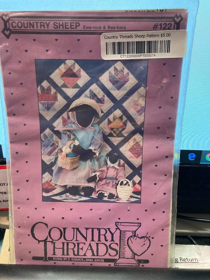 Mary Trendall for Country Threads Country Sheep Pattern #122 EWE-Nice & BAA-BARA