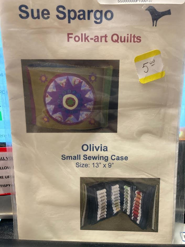 Sue Spargo Folk Art Quilts Olivia Small Sewing Case Pattern