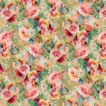 Wilmington Prints Bohemian Dreams By Danhui Nai  Pink Flowers Allover