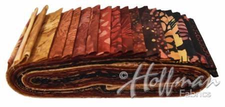 Hoffman Bali Poppy 287 Bali Pops 2 1/2 Strips Batik Fire