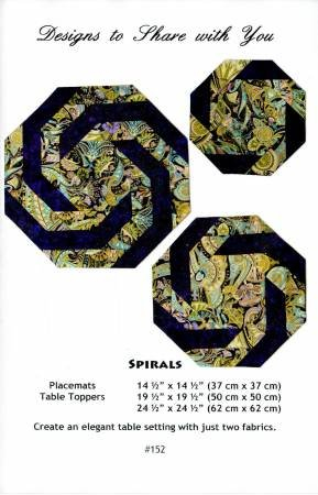 Designs to Share Spirals Table Sets Pattern #152