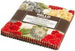 Robert Kaufman Hello My Name is  Charm Squares Imperial Collection 42 Pieces/5 in squares CHS-712-42