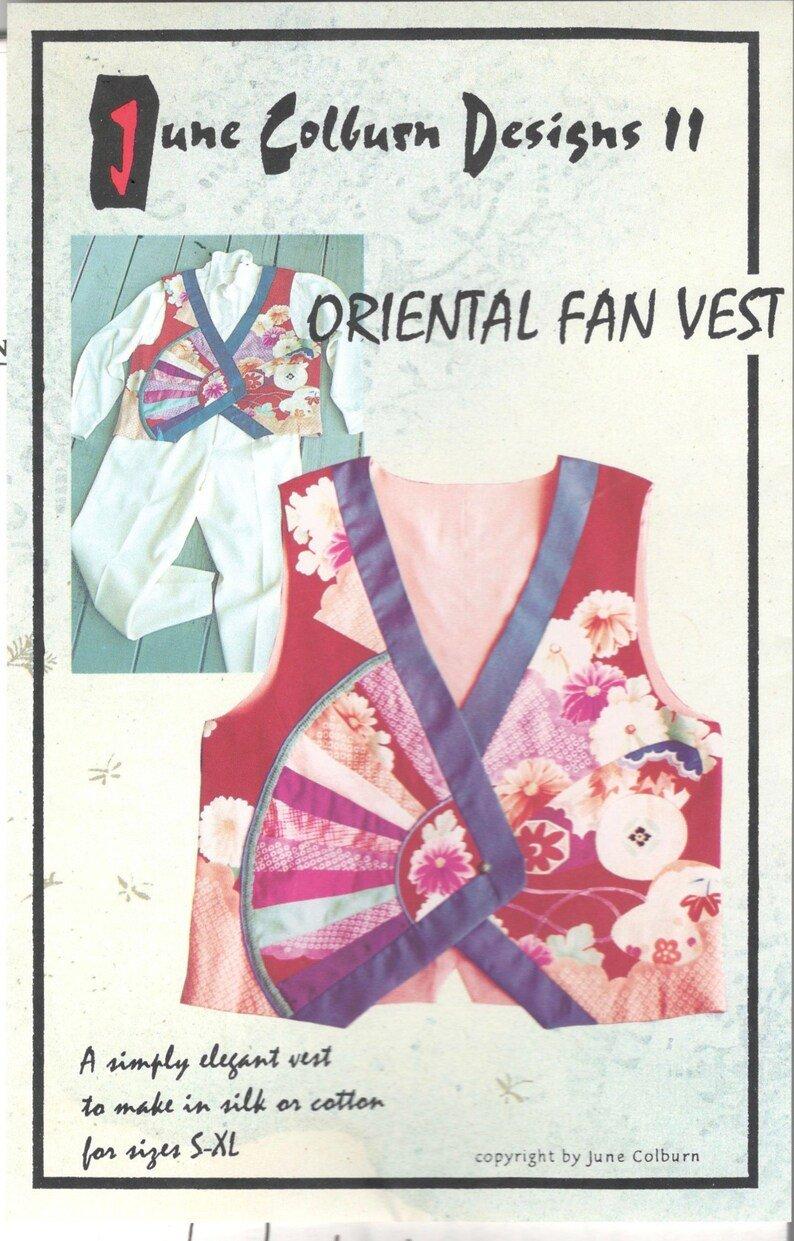 June Colburn Designs II Oriental Fan Vest Pattern
