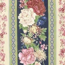 Timeless Treasures Sakura By Chong-A Hwang CM1657 Navy