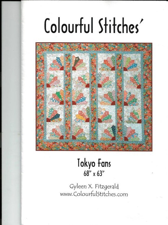 Tokyo Fans Quilt Pattern by Gyleen X. Fitzgerald for ColourfulStitches