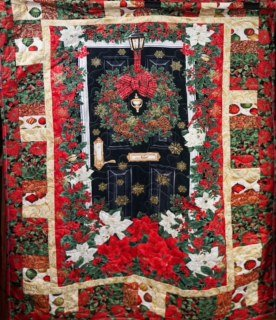 Black Door and Wreath Quilt Kit
