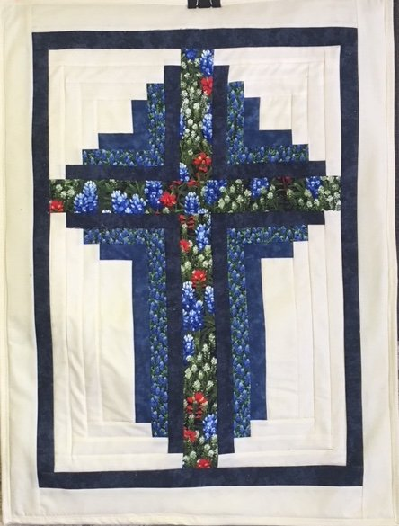 Blue Bonnet Cross Quilt Kit