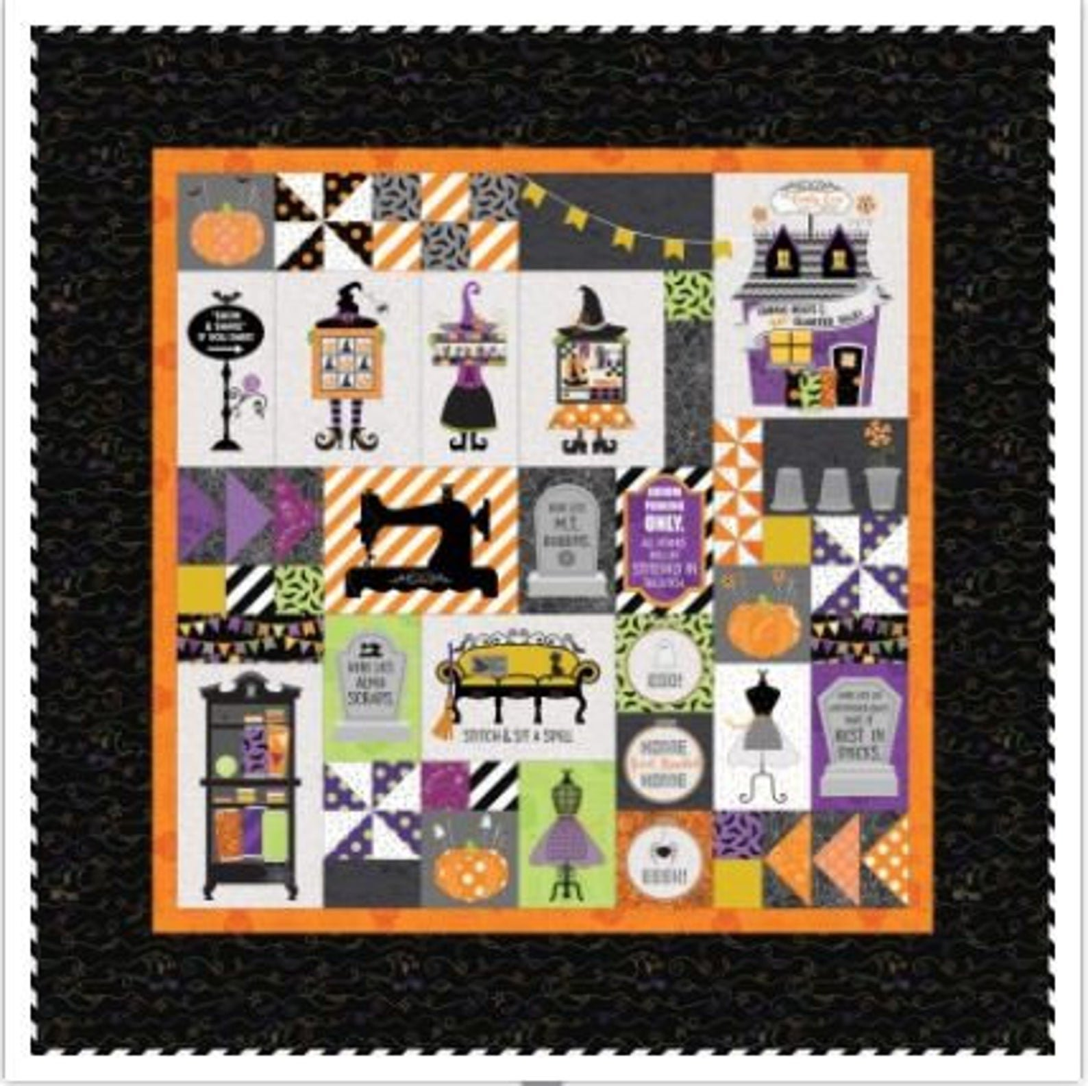 Kimberbell Candy Corn Quilt Shoppe Fabric and Embellishment kit