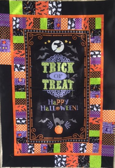 Halloween Door Cover or Throw Quilt Kit