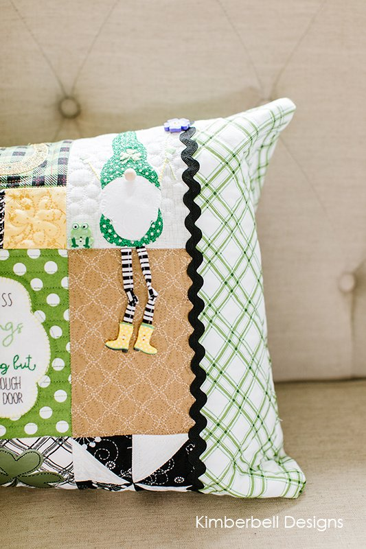 Luck of the Gnome: St. Patrick's Day Bench Pillow
