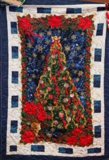 Navy Blue Christmas Quilt Kit