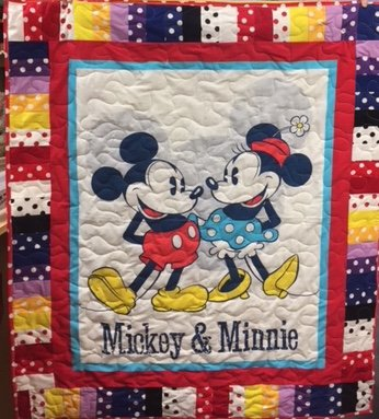 Mickey and Minnie Quilt Kit