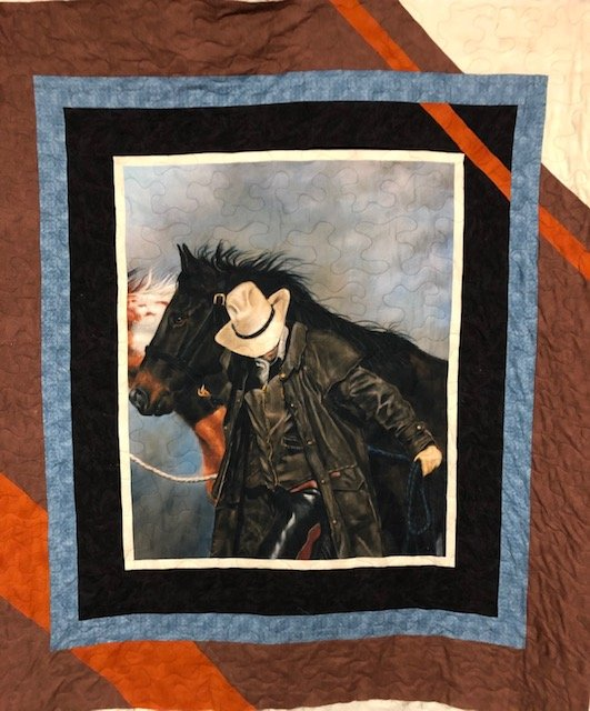 Cowboy Diagonally inclined Quilt kit