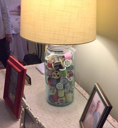 Joyce B's Button Lamp