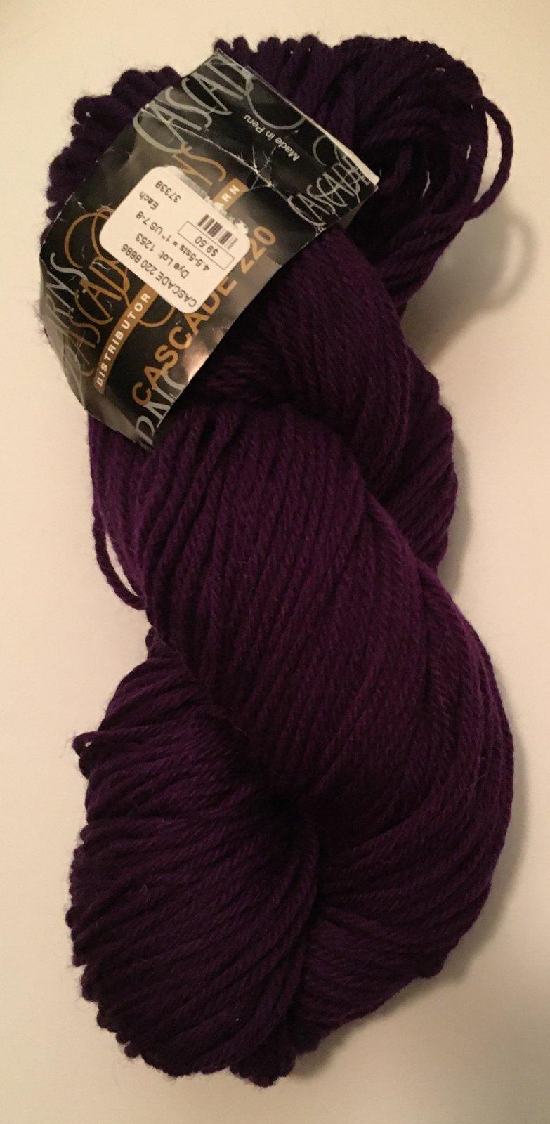 color 8886 Cascade Yarn in purple