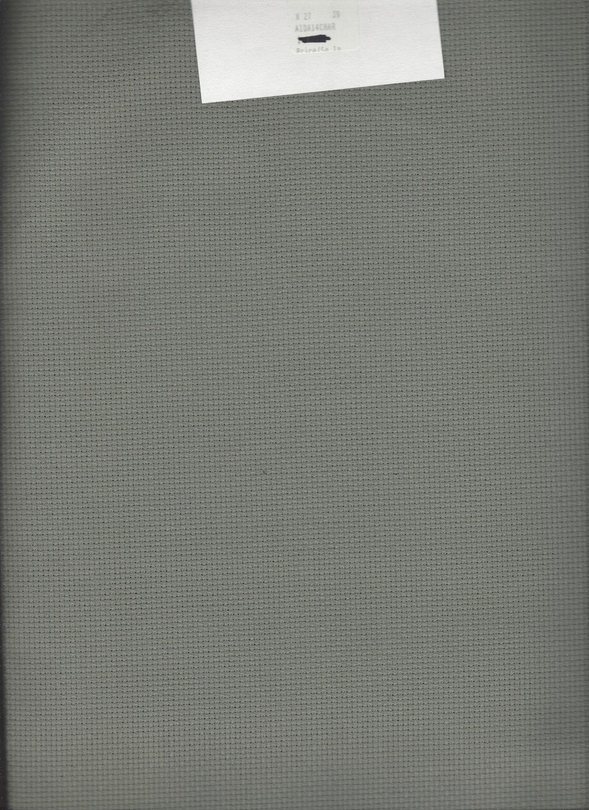 Aida 14ct Charcoal/Smokey Green (discontinued color)