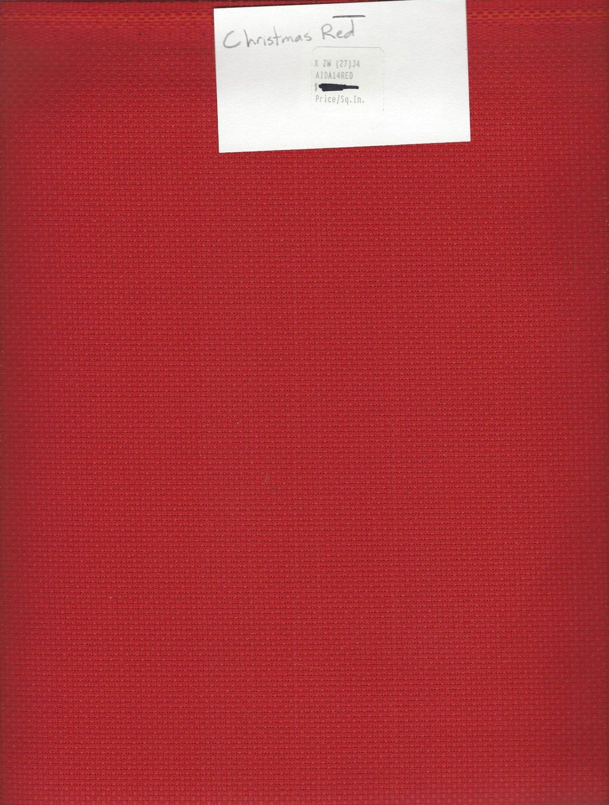 Aida 14ct Christmas Red