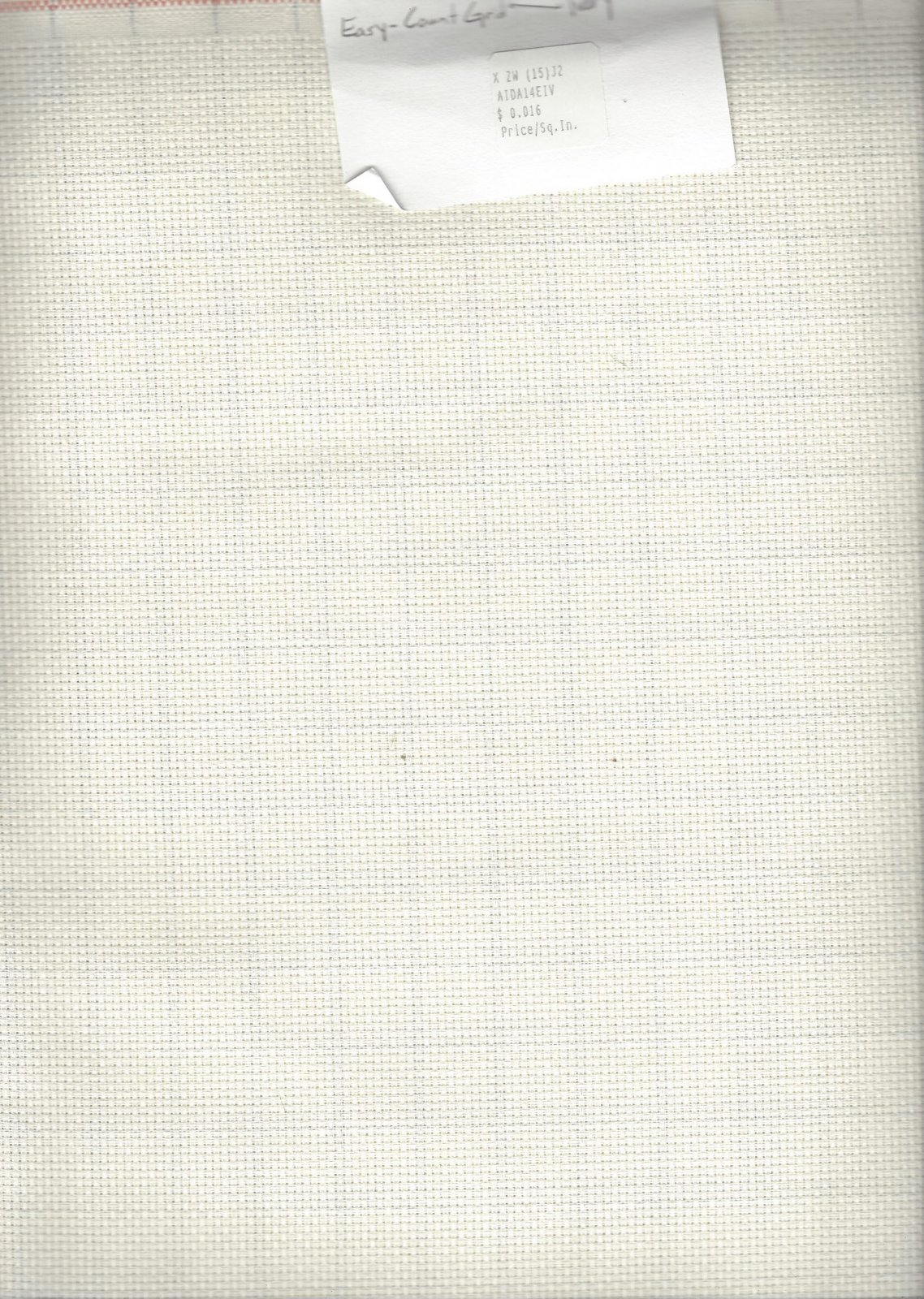 Aida 14ct Easy-Count Grid Ivory (discontinued color)