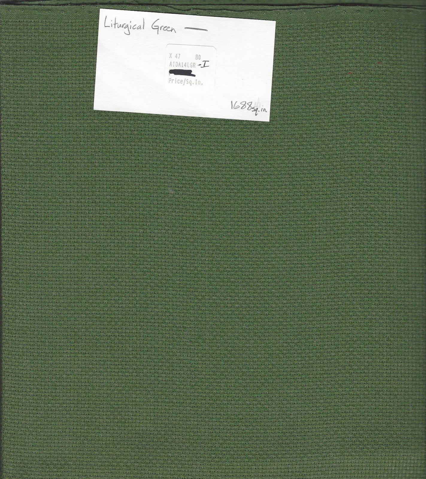 Aida 14ct Liturgical Green-I (discontinued color)