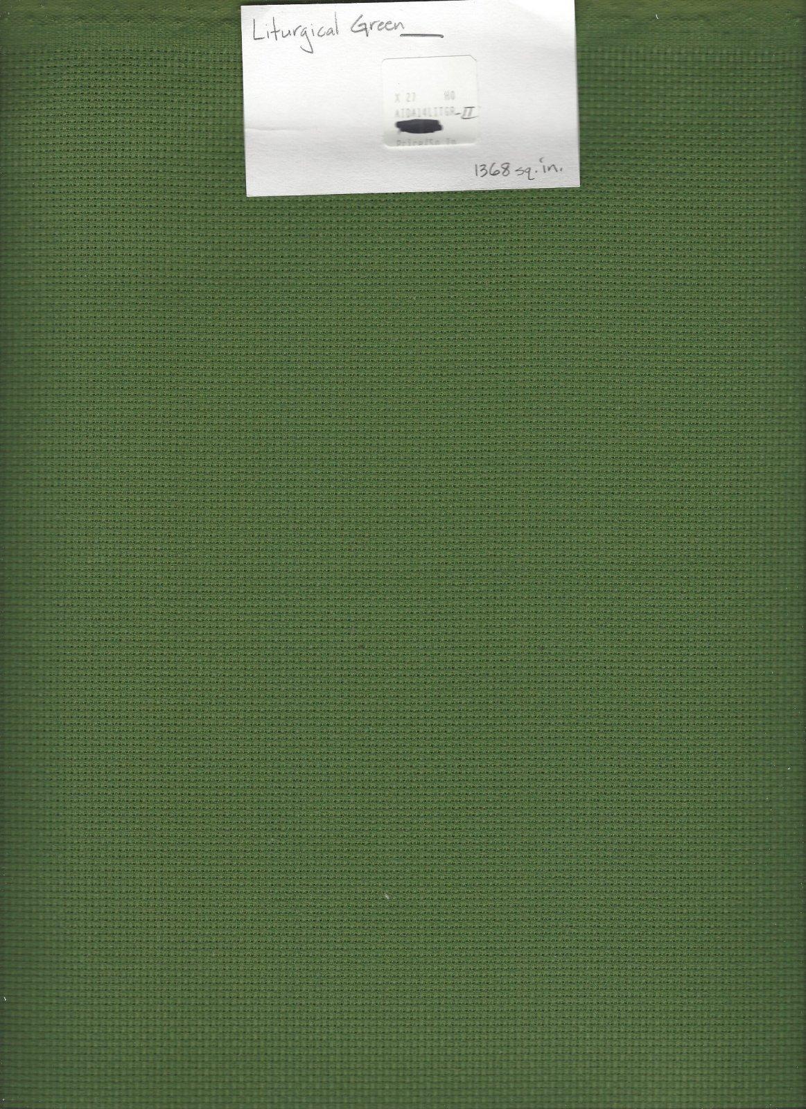 Aida 14ct Liturgical Green-II (discontinued color)