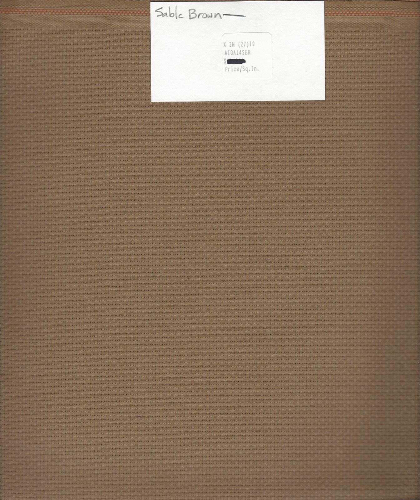 Aida 14ct Sable Brown (discontinued color)