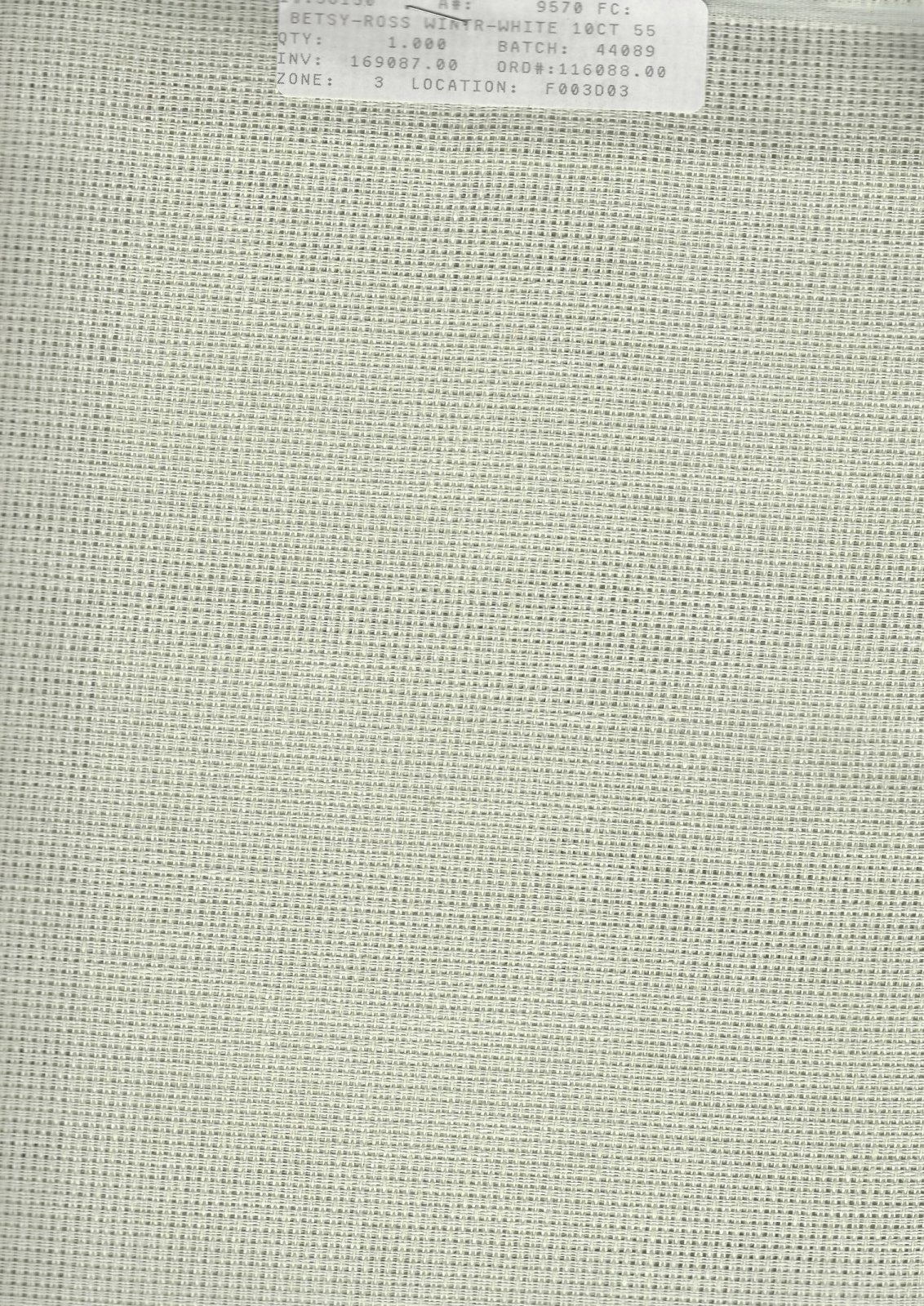 Betsy Ross 10ct Winter White (discontinued color)